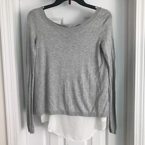 Express sweater with shear underneath open back